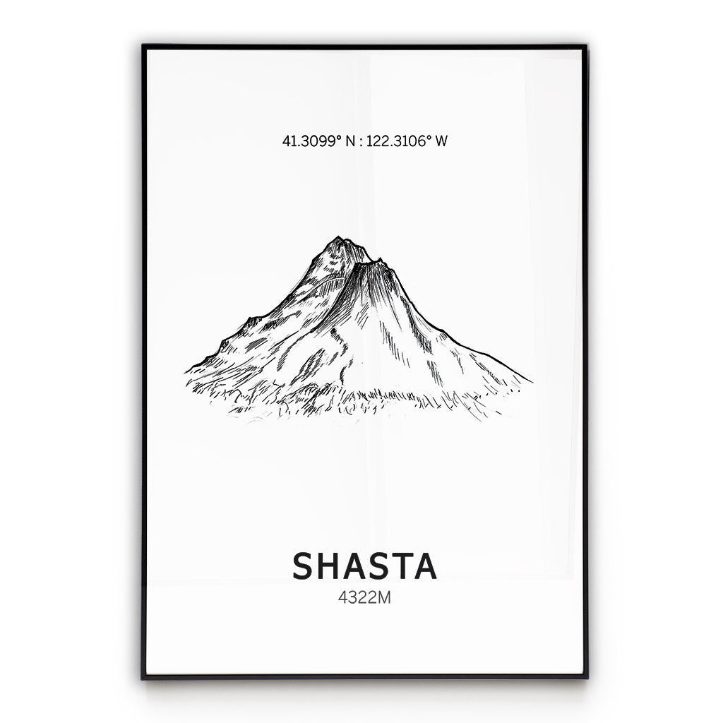 Mount Shasta Poster Wall Art