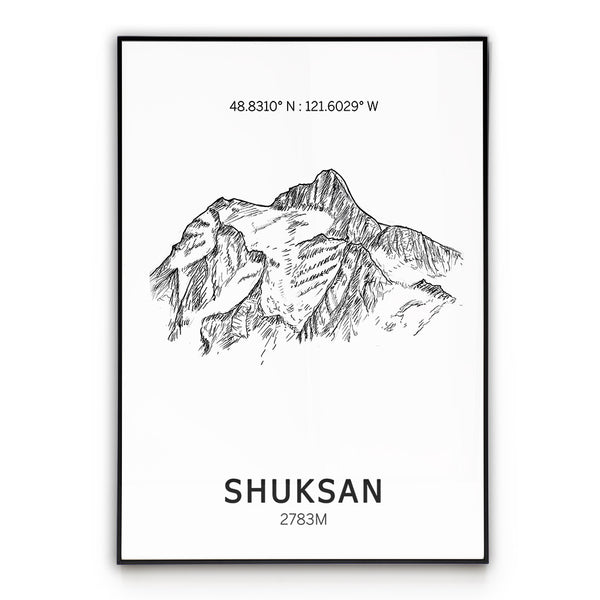 Mount Shuksan Poster Wall Art