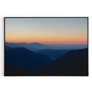 Online Sunset Hills Blue Mountain Poster Wall Art Print Decor Home Office