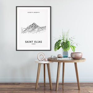Mount Saint Elias Poster Wall Art