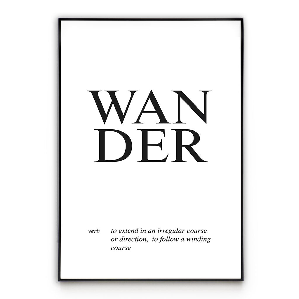 Wander - Word Wall Art Poster