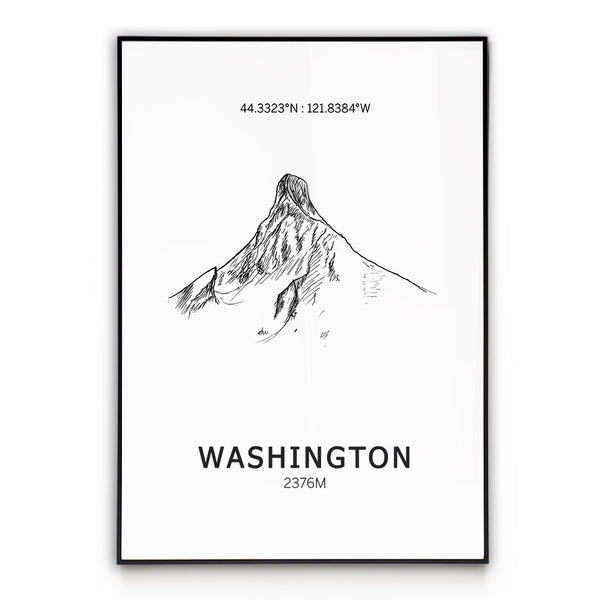 Mount Washington Oregon Poster Wall Art
