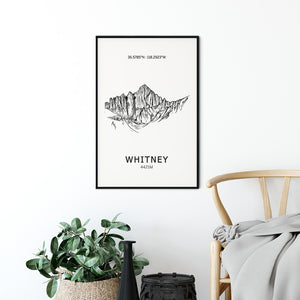 Mount Whitney Poster Wall Art