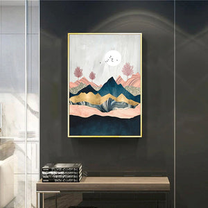 Abstract Mountain Landscape Poster Wall Art 1C