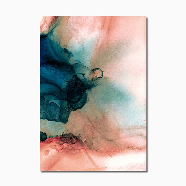 Pink Green Marble  Poster
