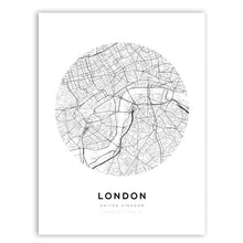 Load image into Gallery viewer, London City Map Print