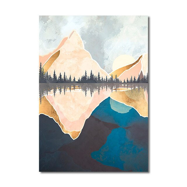 Mountain Lake Poster Wall Art