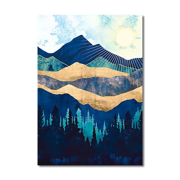 Sunrise Mountain Wall Art J