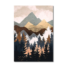 Load image into Gallery viewer, Mountain Abstract Wall Art K