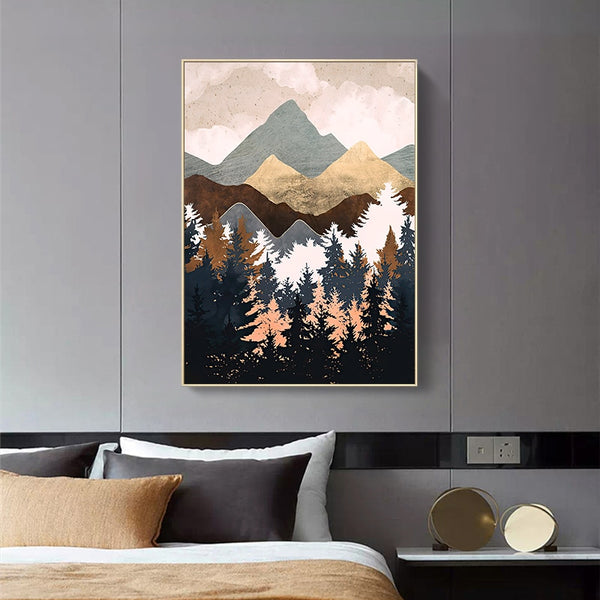 Mountain Abstract Wall Art K