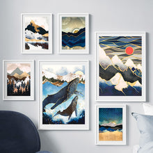 Load image into Gallery viewer, Sunrise Mountain Wall Art F