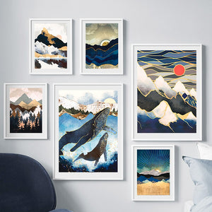 Sunrise Mountain Wall Art F