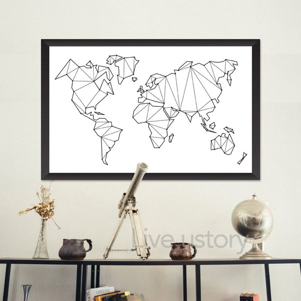 World Map Minimal Print