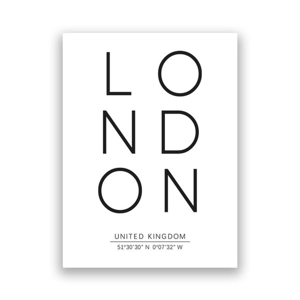 London Typography Print Poster
