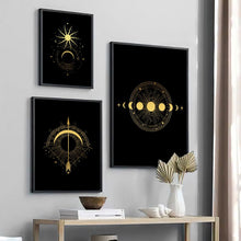 Load image into Gallery viewer, Black Gold Wall Art D