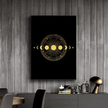 Load image into Gallery viewer, Black Gold Wall Art B