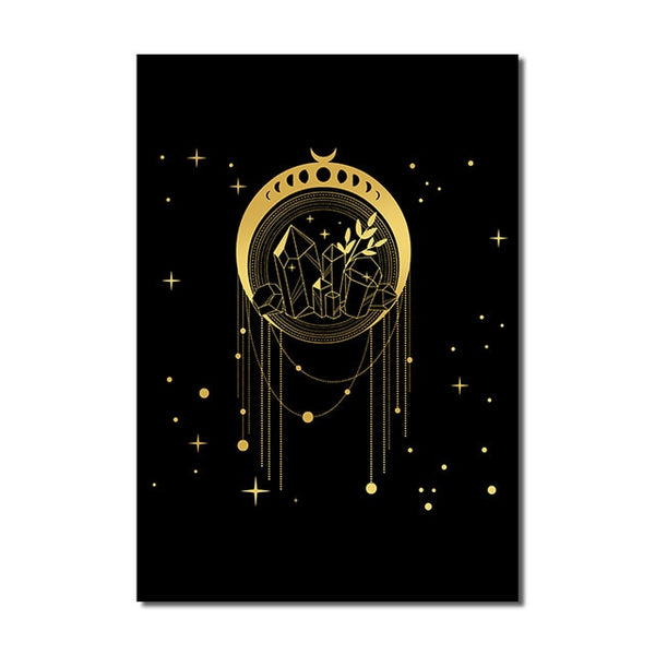Black Gold Wall Art A