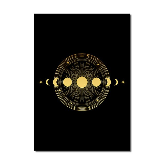 Black Gold Wall Art B