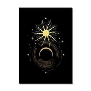 Black Gold Wall Art E