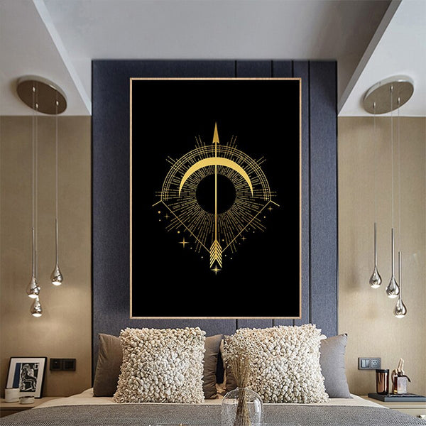 Black Gold Wall Art D
