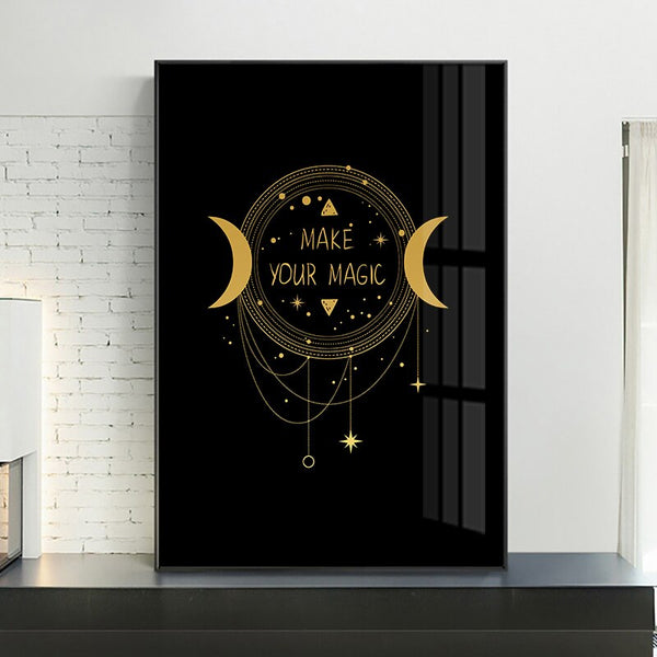 Black Gold Wall Art C