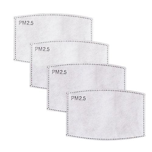 active carbon mask filters (4 pack)