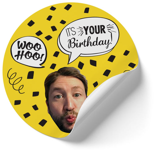 Birthday Confetti Stickers (Qty 12) (4379366424637)