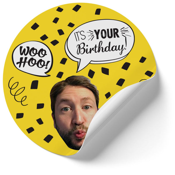 Birthday Confetti Stickers (Qty 12)