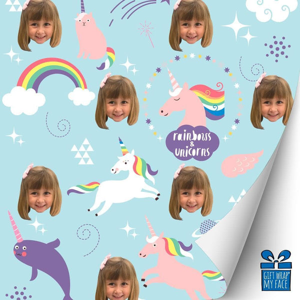 Rainbows And Unicorns Gift Wrap