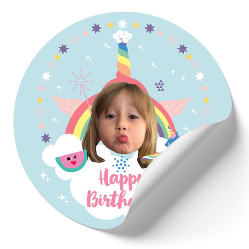 Rainbows And Unicorns Stickers (Qty 12)