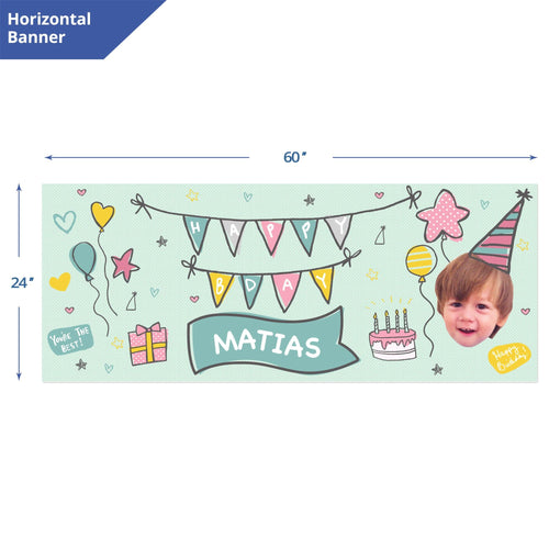 Polka Dots Birthday Banner