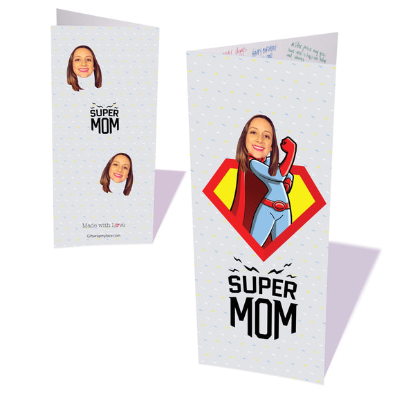 super mom custom gift wrap