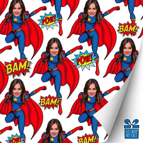 Superwoman Custom Gift Wrap