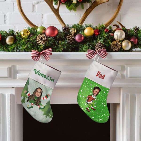 elfie selfie™ custom holiday face stocking