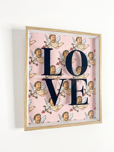 LOVE Cupid Framed Wall Art (Limited Edition)