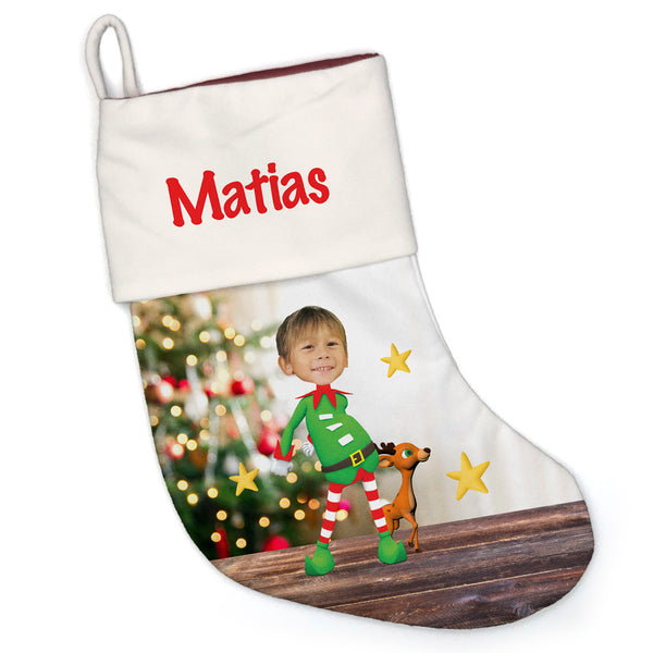 elfie selfie dance™ ar holiday face stocking