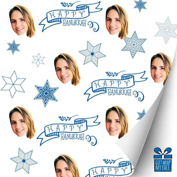 happy hanukkah gift wrap