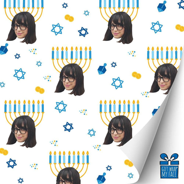 menorah head gift wrap