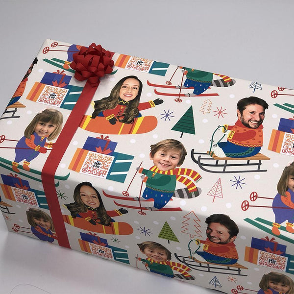 holiday family custom video gift wrap™