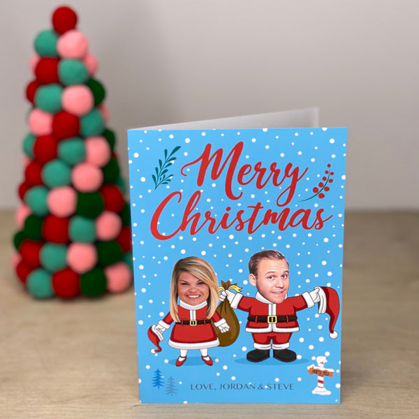 santa family™ custom holiday cards