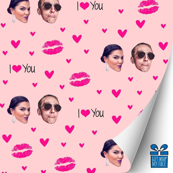 I Love You Kiss Gift Wrap