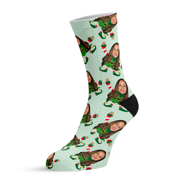 little miss elfie™ custom face socks