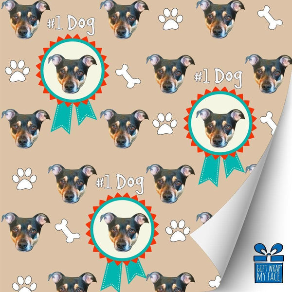 number 1 dog gift wrap