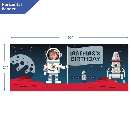 Space Birthday Banner