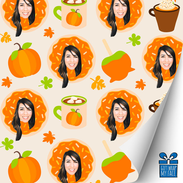 sweet fall custom gift wrap