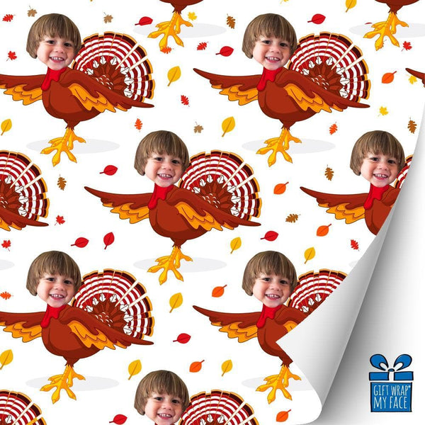 turkey selfie gift wrap