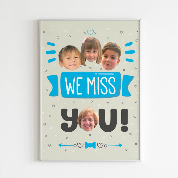 we miss you poster (blue)