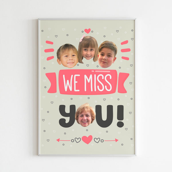 we miss you poster (pink)