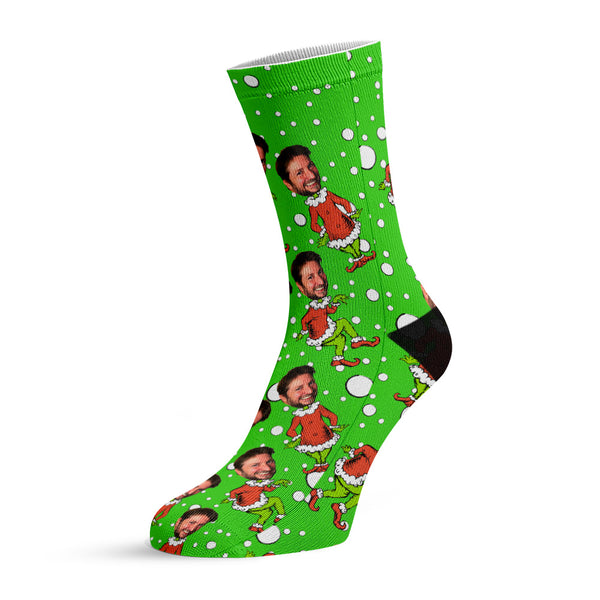 who stole chrismas?™ custom face socks