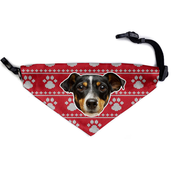 red christmas custom dog bandana